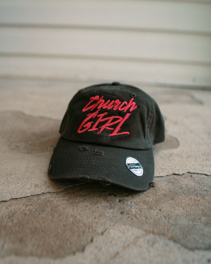 Church Girl Kids Dad Hat (Distressed)