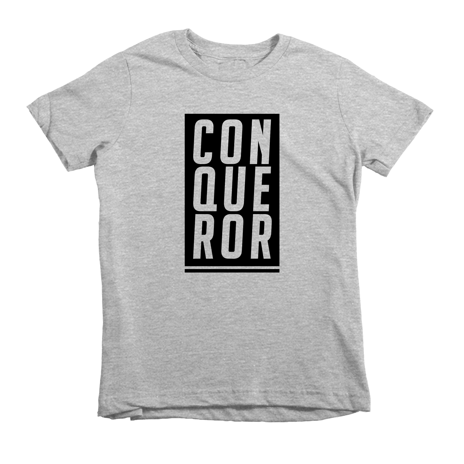 Conqueror Tee - Beacon Threads - 2T / Grey w/ Black Lettering - 2