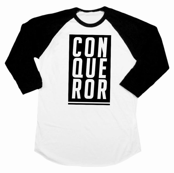 Conqueror Infant Raglan - Beacon Threads - 6-12M / Black & White - 1