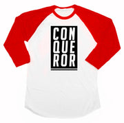 Conqueror Infant Raglan - Beacon Threads - 6-12M / Red & White - 2