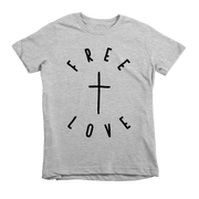 Free Love Tee - Beacon Threads - 2T / Grey w/ Black Lettering - 2