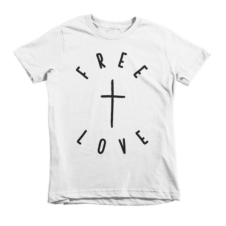 Free Love Tee - Beacon Threads - 2T / White w/ Black Lettering - 3
