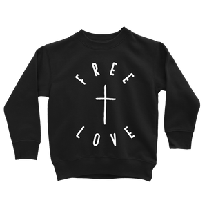 Free Love Sweatshirt - Beacon Threads - 2T / Black w/ White Lettering - 3