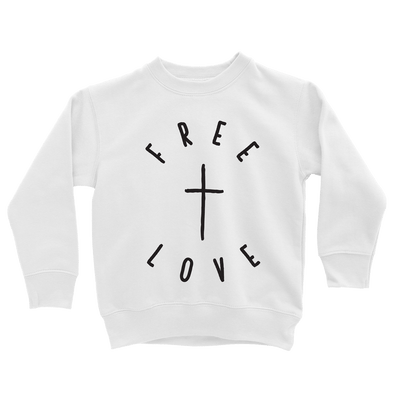 Free Love Sweatshirt - Beacon Threads - 2T / White w/ Black Lettering - 1