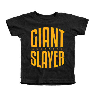 Giant Slayer Infant Tees - Beacon Threads - 12-18M / Tri-Black w/ Gold Lettering
