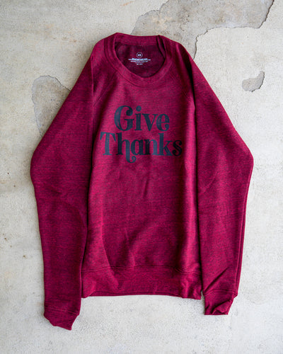 Give Thanks Adult Sweatshirt