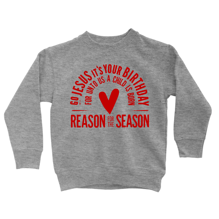 Go Jesus Sweatshirt - Beacon Threads - 2T / Grey w/ Red Lettering - 1