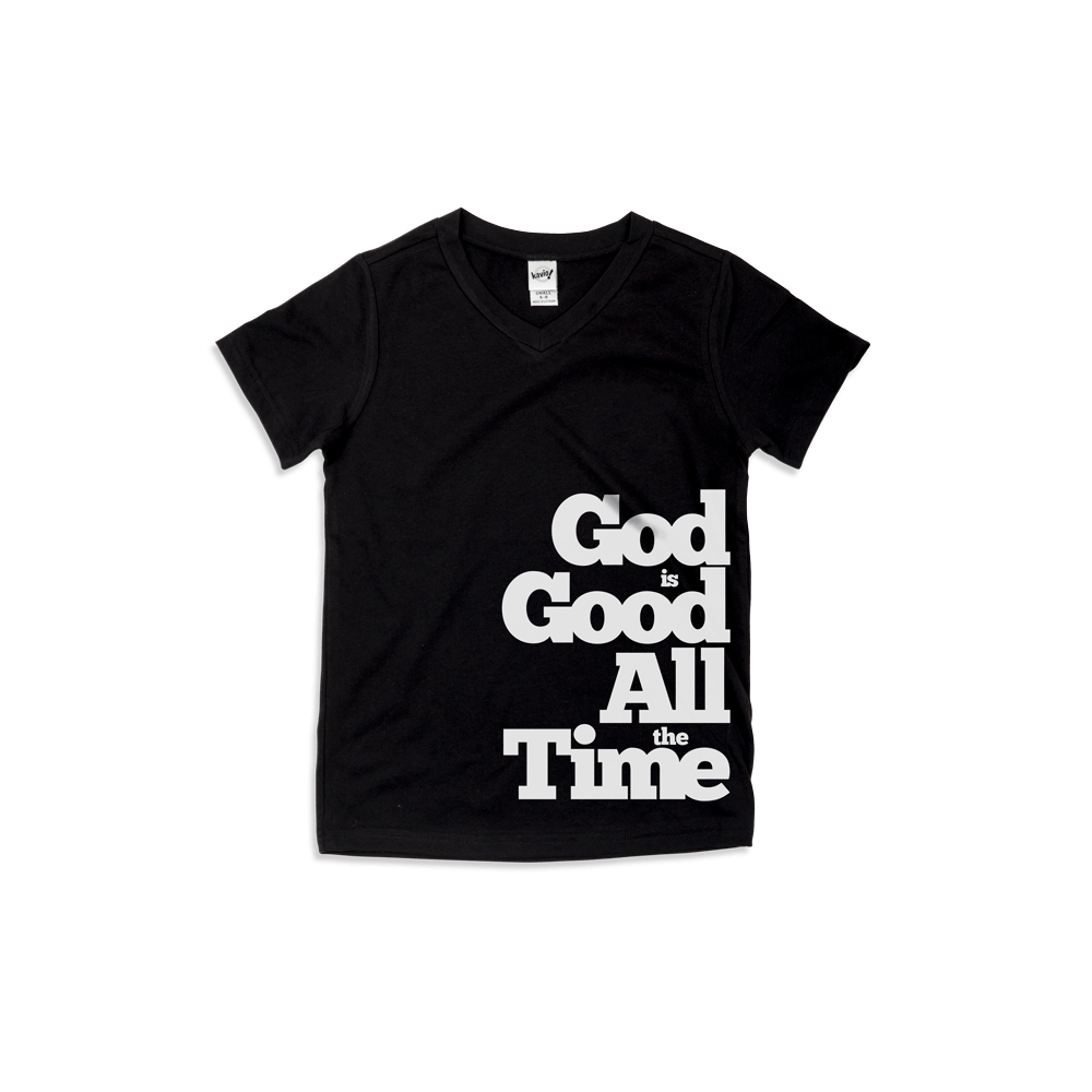 God is Good All the Time V-Neck Kids T-shirt