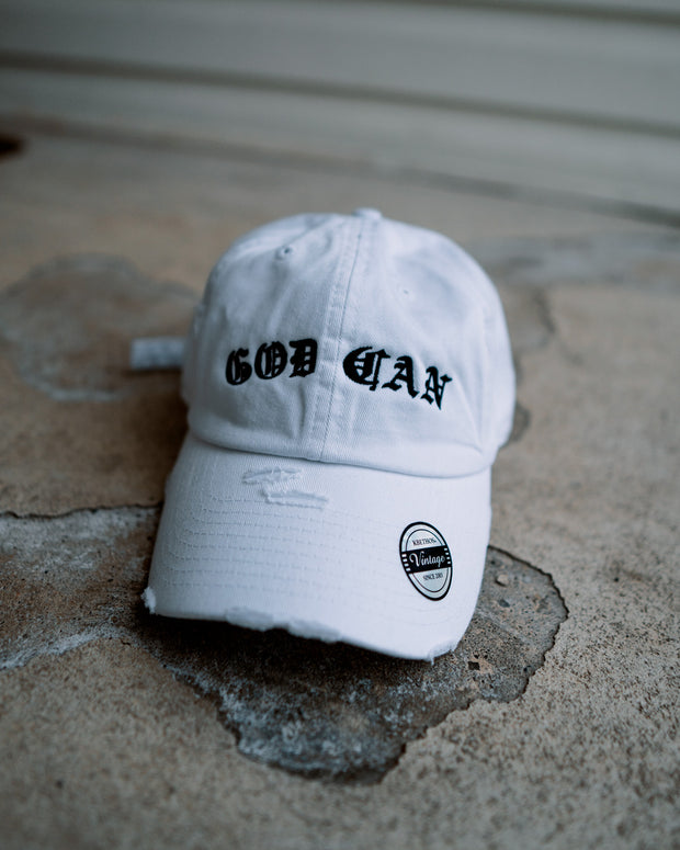 God Can Adult Dad Hat (Distressed)
