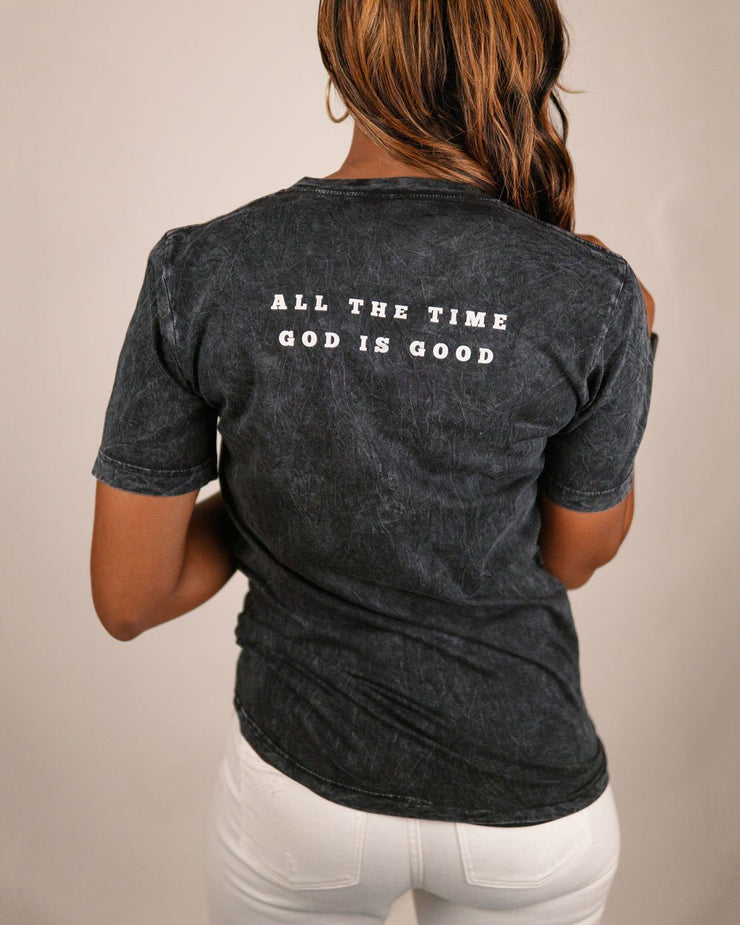 God Is Good All The Time Adult V-neck T-shirt