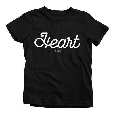 Heart of a Lion Tee - Beacon Threads - 2T / Black