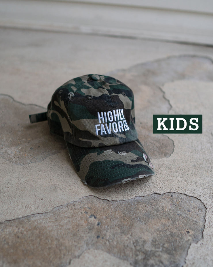 Highly Favored Kids Dad Hat (Distressed)