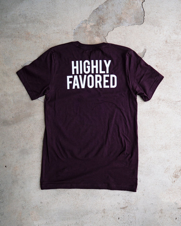 Highly Favored Adult T-shirt
