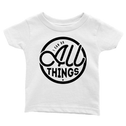 I Can Do All Things Infant Tees - Beacon Threads - 12-18M / White w/ Black Lettering - 2