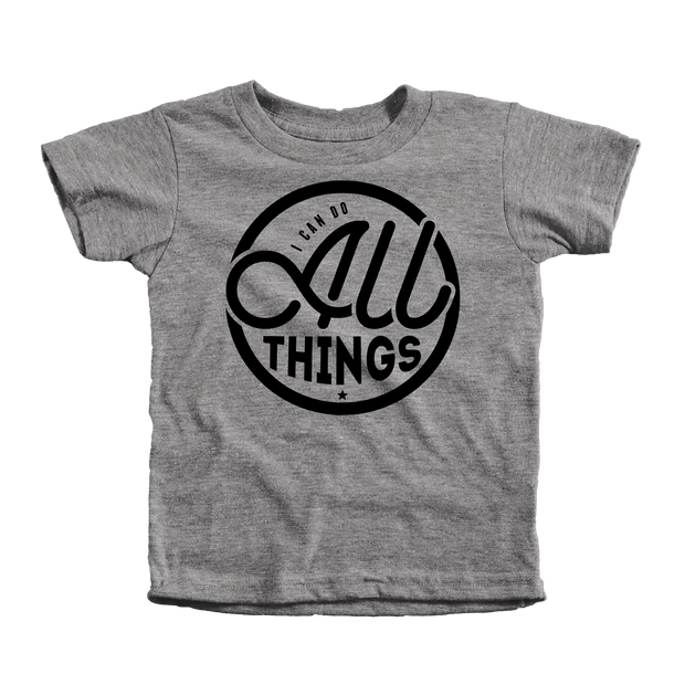 I Can Do All Things Infant Tees - Beacon Threads - 12-18M / Grey w/ Black Lettering - 1
