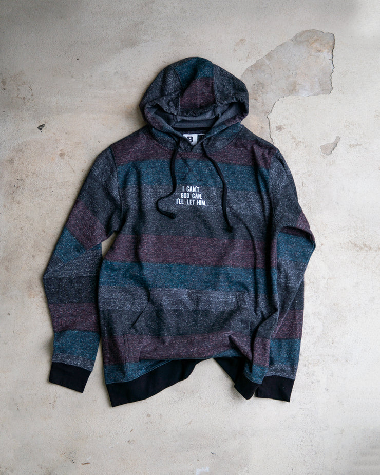 I Can't. God Can. I'll Let Him. Men's Striped Pullover