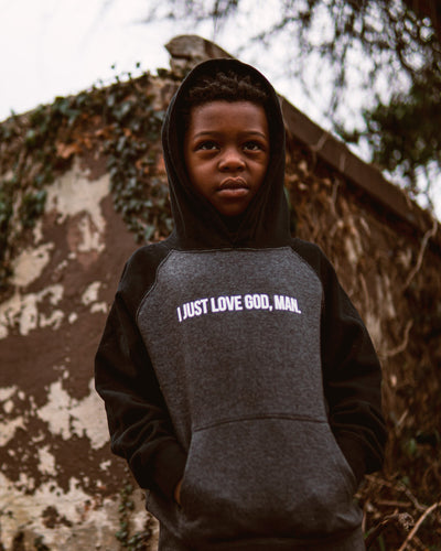 I Just Love God, Man. Kids Hoodie