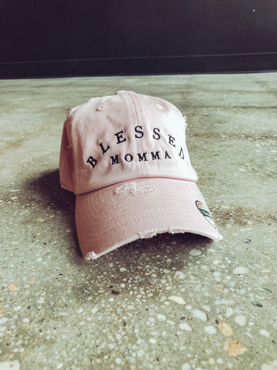 Blessed Momma Adult Dad Hat (Distressed)