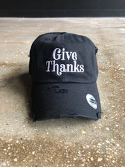 Give Thanks Adult Dad Hat (Distressed)