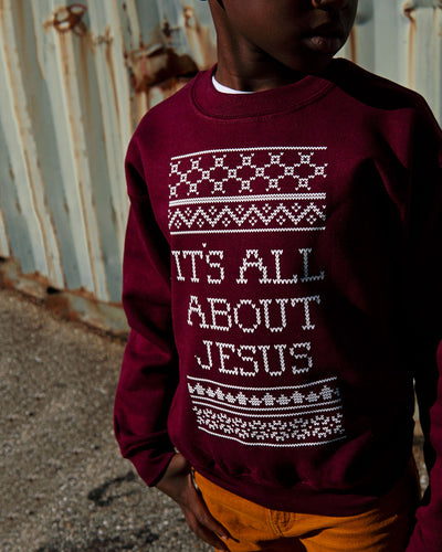 It's All About Jesus Kids Sweatshirt