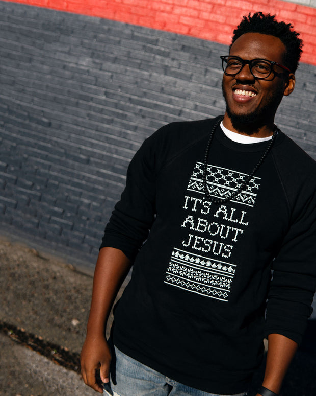 It's All About Jesus Adult Sweatshirt