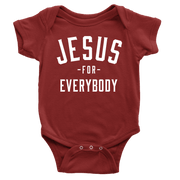 Jesus For Everybody Onesie - Beacon Threads - 3-6M / Maroon w/ White Lettering - 4