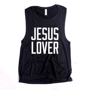 Jesus Lover Women's Muscle Tank