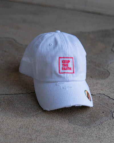 Keep The Faith Adult Trucker Hat (Distressed)