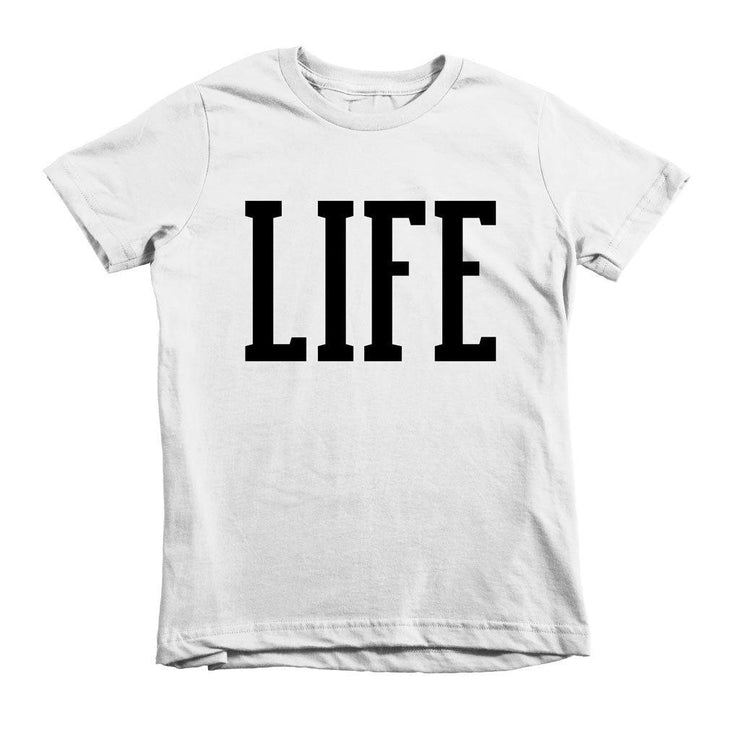 LIFE Tee - Beacon Threads - 2T / White w/ Black Lettering - 1