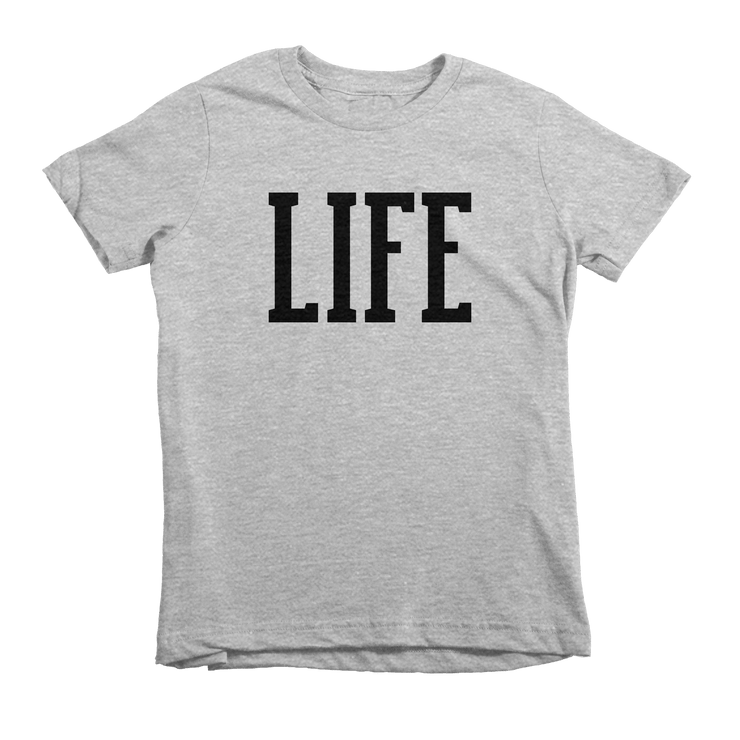 LIFE Tee - Beacon Threads - 2T / Grey w/ Black Lettering - 2