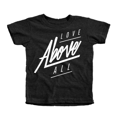 Love Above All Infant Tees - Beacon Threads - 12-18M / Tri-Black w/ White Lettering