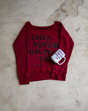 Love Never Gives Up 2pc Special (Sweatshirt + Mug)
