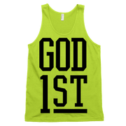 God 1st Tank - Beacon Threads - 4T / Neon Yellow - 2