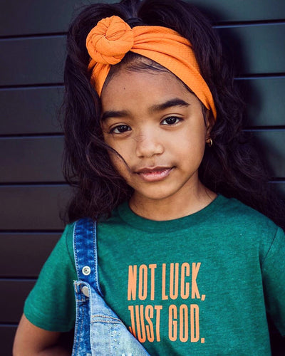Not Luck, Just God. Kids T-shirt