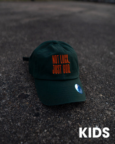Not Luck, Just God. Dad Hat (Non-Distressed)