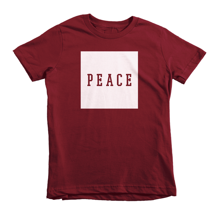 PEACE Tee - Beacon Threads - 2T / Maroon w/ White Lettering - 4