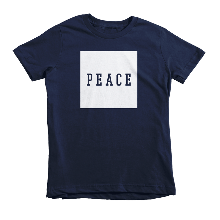 PEACE Tee - Beacon Threads - 2T / Navy w/ White Lettering - 2
