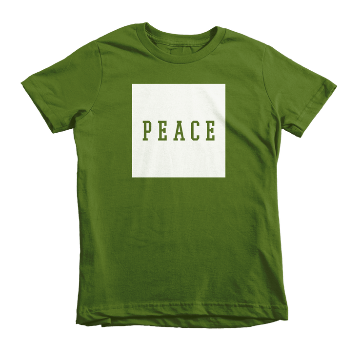 PEACE Tee - Beacon Threads - 6T / Olive w/ White Lettering - 3