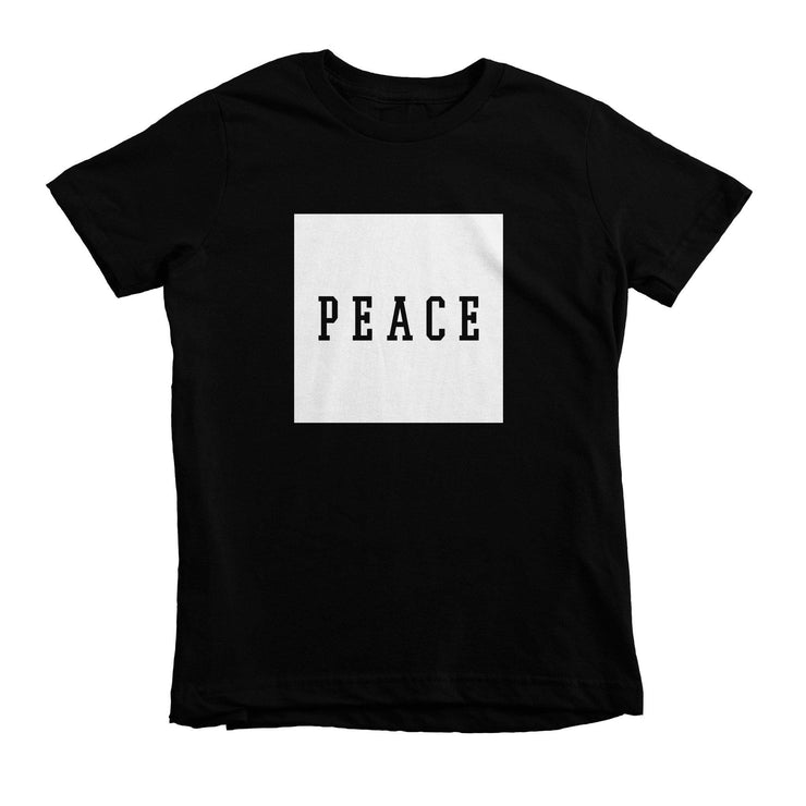 PEACE Tee - Beacon Threads - 2T / Black w/ White Lettering - 1