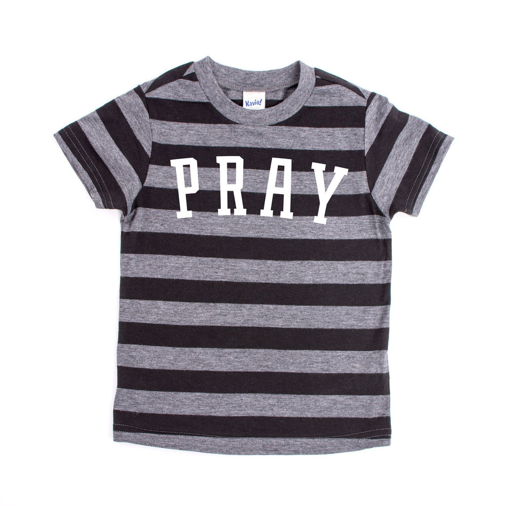 Pray Striped Kids T-shirt