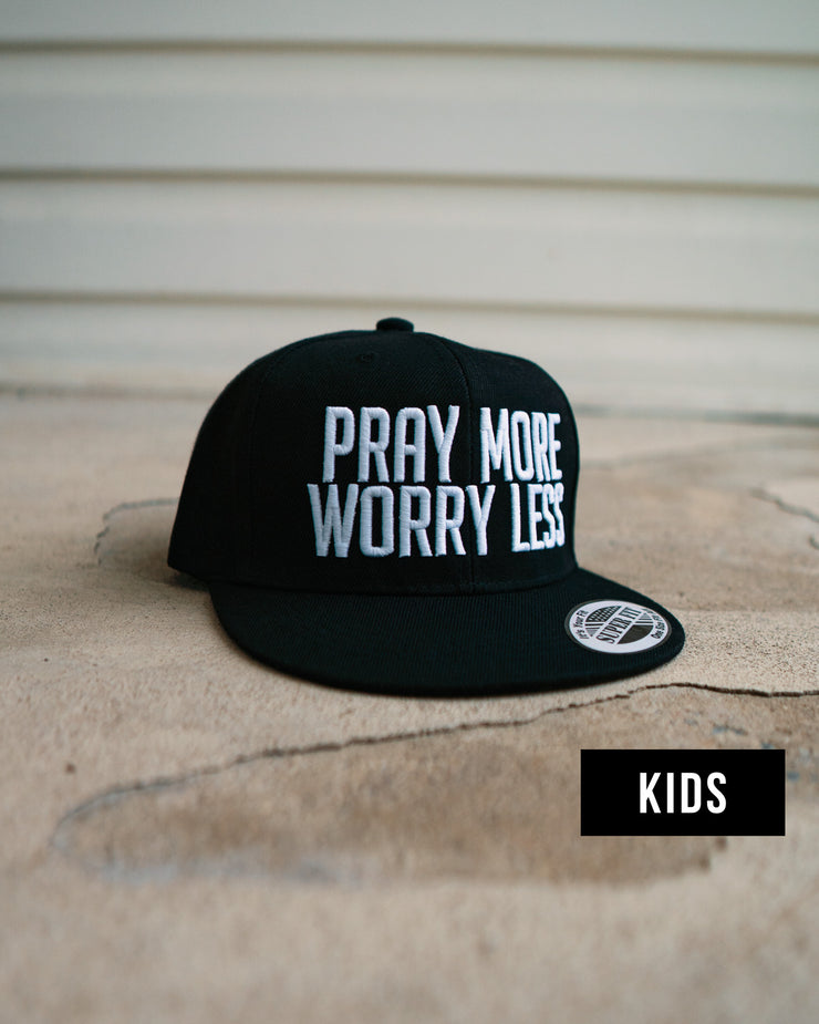 Pray More Worry Less Kids SnapBack