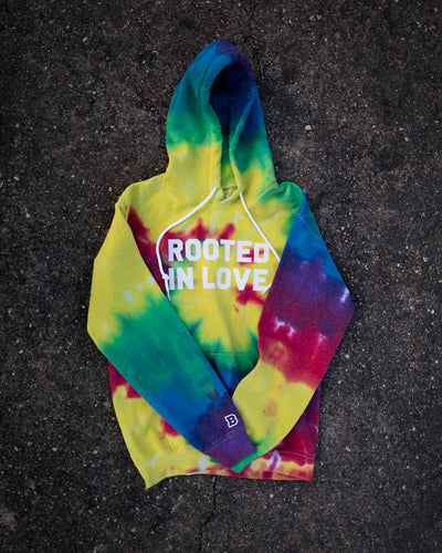 Rooted In Love Adult Tie Dye Pullover