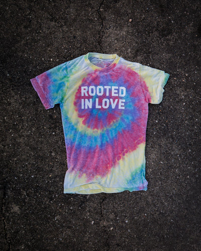 Rooted In Love Tie Dye Adult T-Shirt