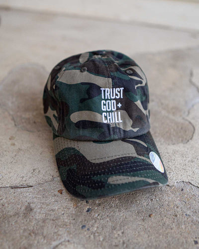 Trust God and Chill Adult Dad Hat (Non-Distressed) (Blk-Fri)