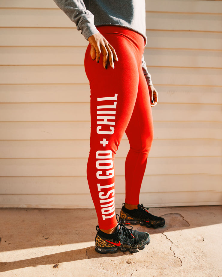 Trust God + Chill Women's Leggings