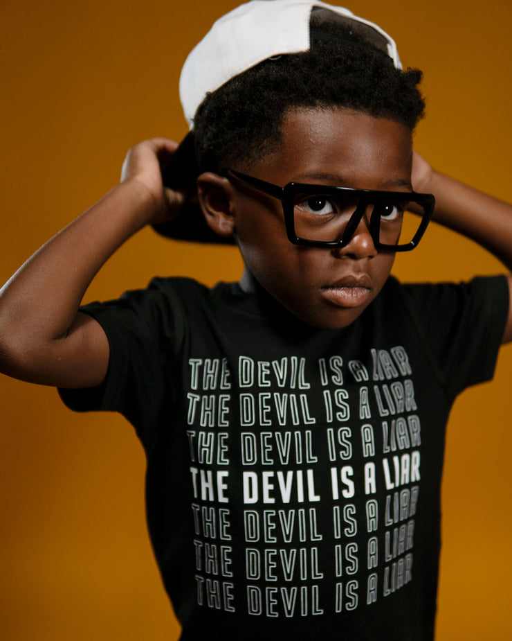 The Devil Is A Liar Kids T-shirt