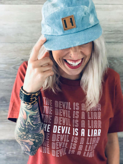 The Devil Is A Liar Adult T-Shirt