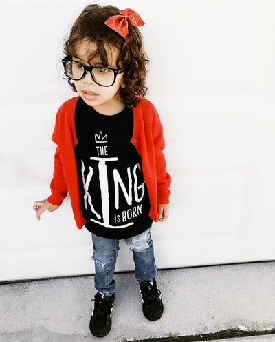 The King Is Born Kids T-shirt