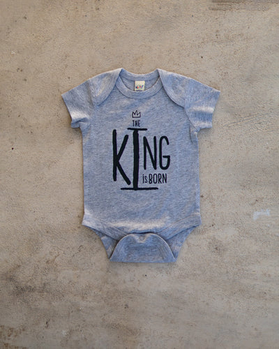 The King Is Born Onesie