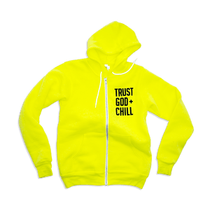 Trust God + Chill Adult Full-Zip Hoodie